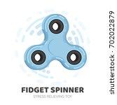 fidget spinner. stress... | Shutterstock .eps vector #702022879