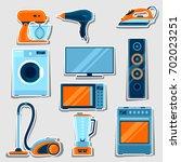 set of home appliances.... | Shutterstock .eps vector #702023251