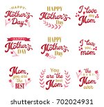 mothers day hand lettering... | Shutterstock . vector #702024931