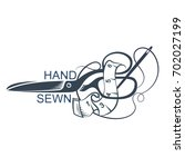 scissors and accessories for... | Shutterstock .eps vector #702027199