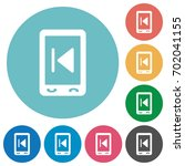 mobile media previous flat... | Shutterstock .eps vector #702041155