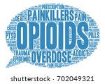 opioids word cloud on a white...   Shutterstock .eps vector #702049321