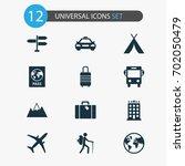 exploration icons set.... | Shutterstock .eps vector #702050479