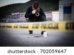 crime scene  murder ... | Shutterstock . vector #702059647