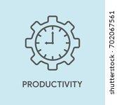 productivity concept   Shutterstock .eps vector #702067561