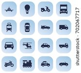 set of 16 transport icons set... | Shutterstock .eps vector #702067717