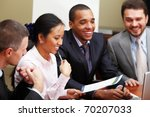 multi ethnic business team at a ... | Shutterstock . vector #70207033