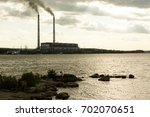 plant's tubes with smoke and...   Shutterstock . vector #702070651