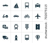 shipment icons set. collection... | Shutterstock .eps vector #702075115