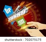 turbo power speed on smartphone ... | Shutterstock .eps vector #702075175