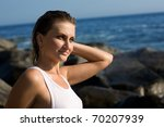 relaxed attractive girl after a ... | Shutterstock . vector #70207939