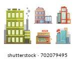 flat design of retro and modern ... | Shutterstock . vector #702079495