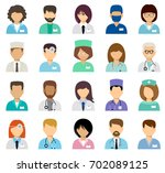 medical avatars  team of... | Shutterstock .eps vector #702089125