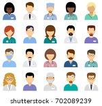 medical avatars  team of... | Shutterstock .eps vector #702089239