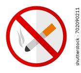 no smoking flat icon  vector... | Shutterstock .eps vector #702090211