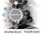 industry 4.0 industry... | Shutterstock . vector #702093205