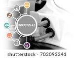 industry 4.0 industry... | Shutterstock . vector #702093241