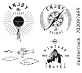 vintage aviation parts and logos | Shutterstock .eps vector #702097699