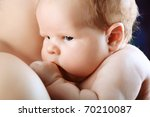 portrait of a beautiful baby. | Shutterstock . vector #70210087