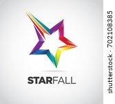 Colorful Star Fall Logo Symbol