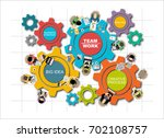 flat design illustration... | Shutterstock .eps vector #702108757