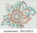 flower pattern bright abstract... | Shutterstock .eps vector #702110011