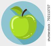 green apple icon | Shutterstock .eps vector #702113737