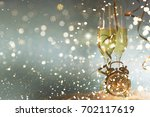 new years eve celebration... | Shutterstock . vector #702117619