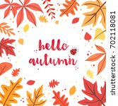 hello autumn vector design.... | Shutterstock .eps vector #702118081
