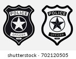 police badge simple monochrome... | Shutterstock .eps vector #702120505