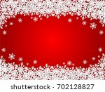 red merry christmas background... | Shutterstock .eps vector #702128827