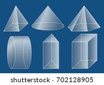 3d basic shapes. prism  pyramid ... | Shutterstock .eps vector #702128905