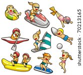 cartoon water sport icon | Shutterstock .eps vector #70213165
