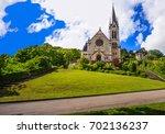 reformed church of pasquart ... | Shutterstock . vector #702136237
