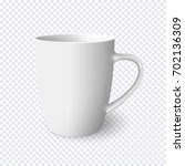 realistic white mug isolated on ... | Shutterstock .eps vector #702136309