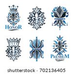 royal symbols lily flowers ... | Shutterstock . vector #702136405