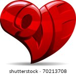 Illustration Of A Heart With...
