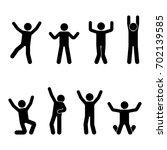stick figure happiness  freedom ... | Shutterstock . vector #702139585