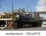A Railroad Tanker Car Being...