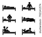 stick figure different position ... | Shutterstock . vector #702141574