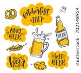 set of oktoberfest stickers.... | Shutterstock .eps vector #702148924