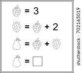 mathematics task.  worksheet.  ... | Shutterstock .eps vector #702165019
