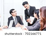 group of business people... | Shutterstock . vector #702166771