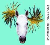fashion collage minimal. photo... | Shutterstock . vector #702167335