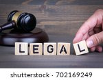 legal law concept  gavel on ... | Shutterstock . vector #702169249