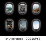 Group Of Plane Windows With...