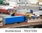 transportation of cargoes in... | Shutterstock . vector #70217356