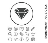 diamond sign icon. jewelry... | Shutterstock .eps vector #702177565