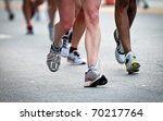 close up of legs while running  ... | Shutterstock . vector #70217764