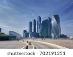 view on moscow city business... | Shutterstock . vector #702191251